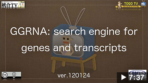 GGRNA: search engine for genes and transcripts